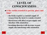 level of consciousness