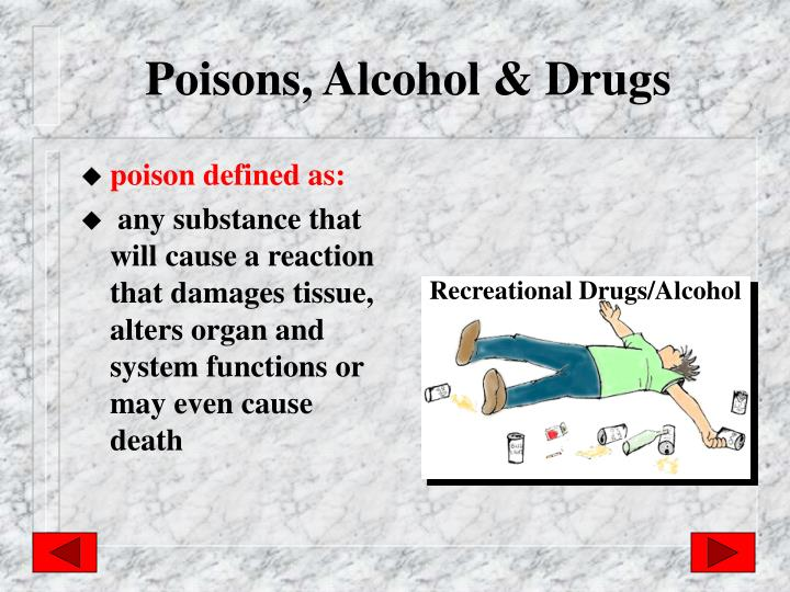 Poisons, Alcohol & Drugs