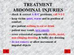 treatment abdominal injuries