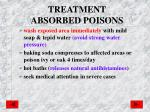 treatment absorbed poisons