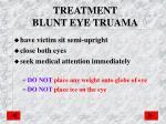 treatment blunt eye truama