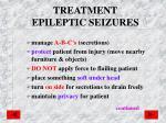 treatment epileptic seizures