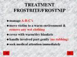 treatment frostbite frostnip
