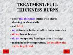 treatment full thickness burns