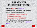 treatment ingested poisons