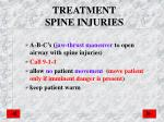 treatment spine injuries