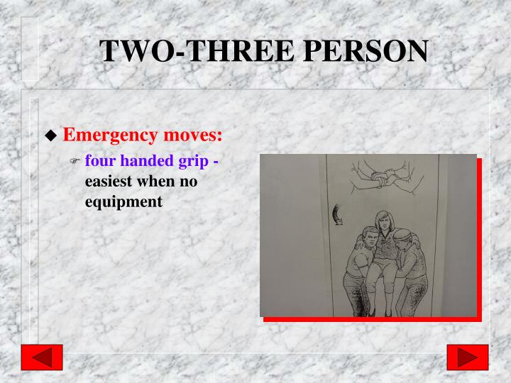 TWO-THREE PERSON