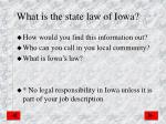 what is the state law of iowa