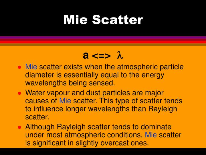 Mie Scatter