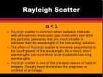 rayleigh scatter