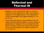 reflected and thermal ir