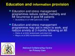 education and information provision
