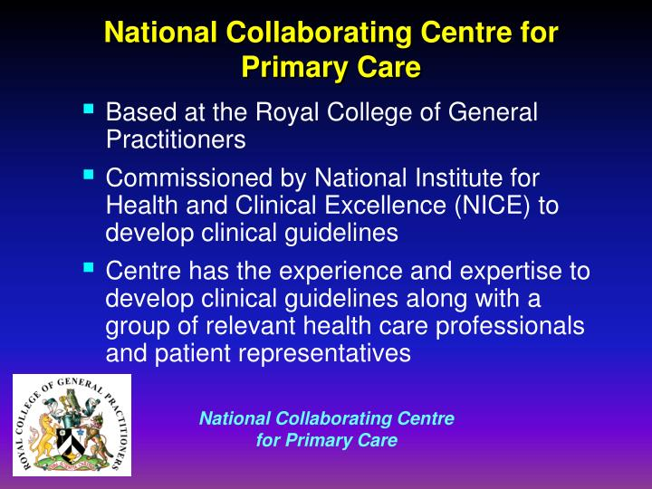 National collaborating centre for primary care