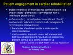 patient engagement in cardiac rehabilitation