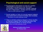 psychological and social support