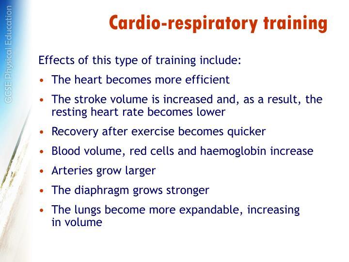 Cardio-respiratory training