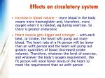 effects on circulatory system