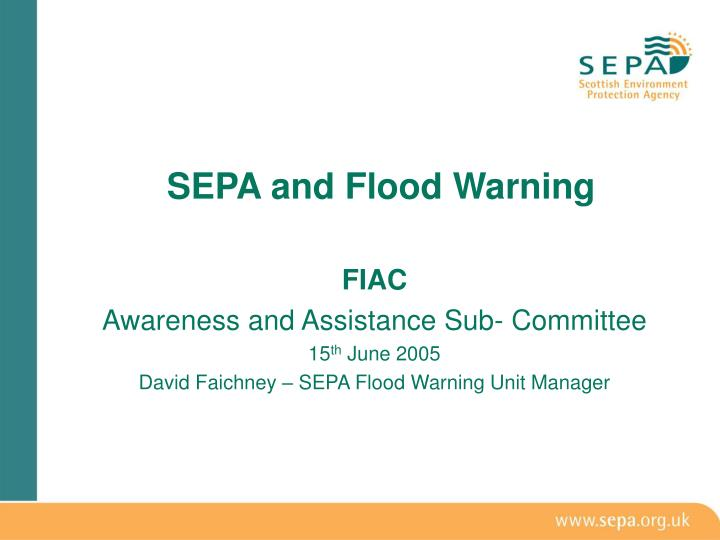 Sepa and flood warning