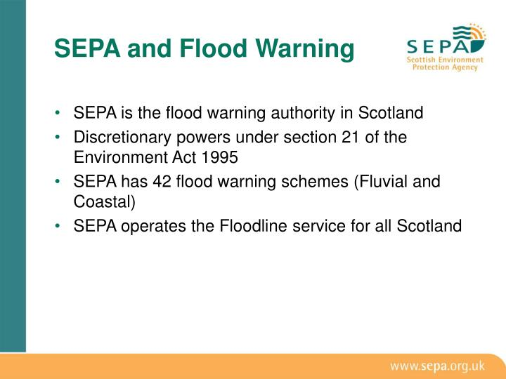 Sepa and flood warning1