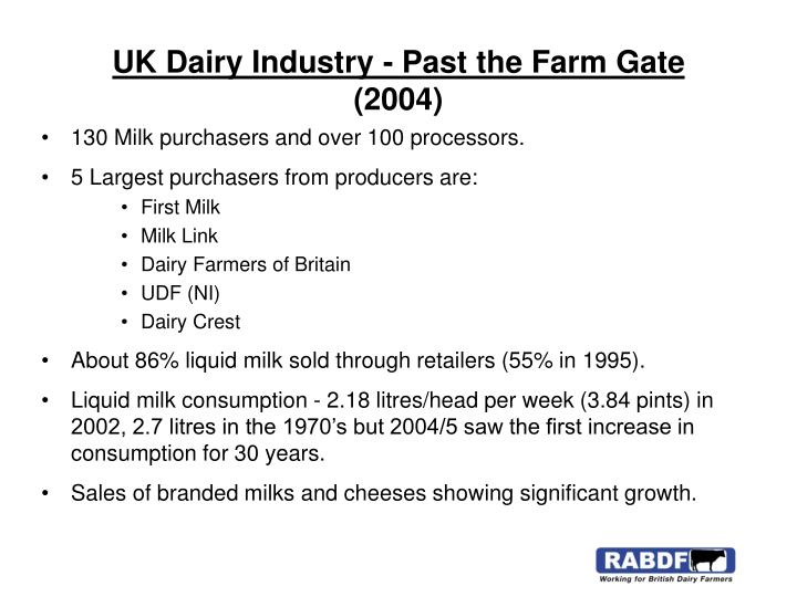 UK Dairy Industry - Past the Farm Gate