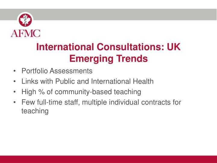 International Consultations: UK