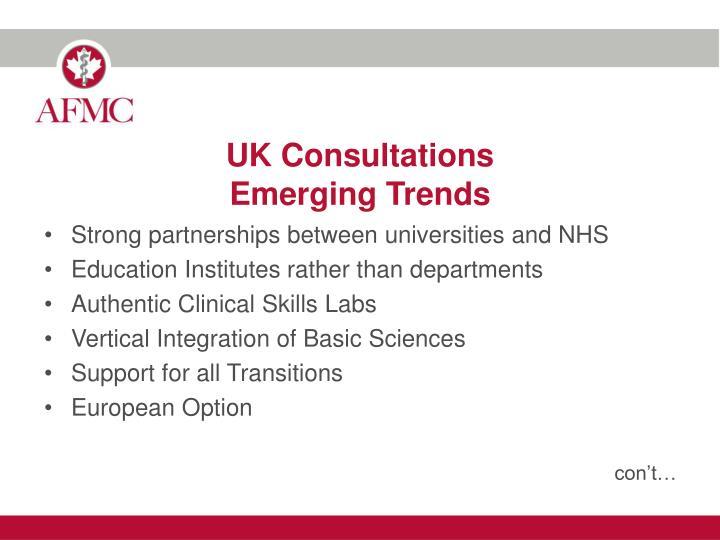 UK Consultations