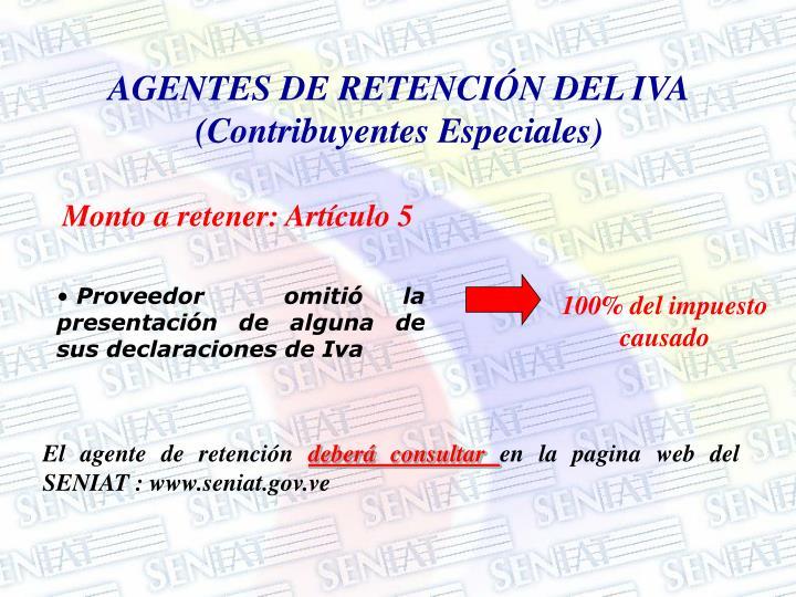 AGENTES DE RETENCIÓN DEL IVA