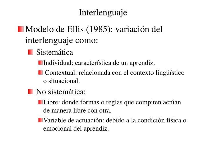 Interlenguaje