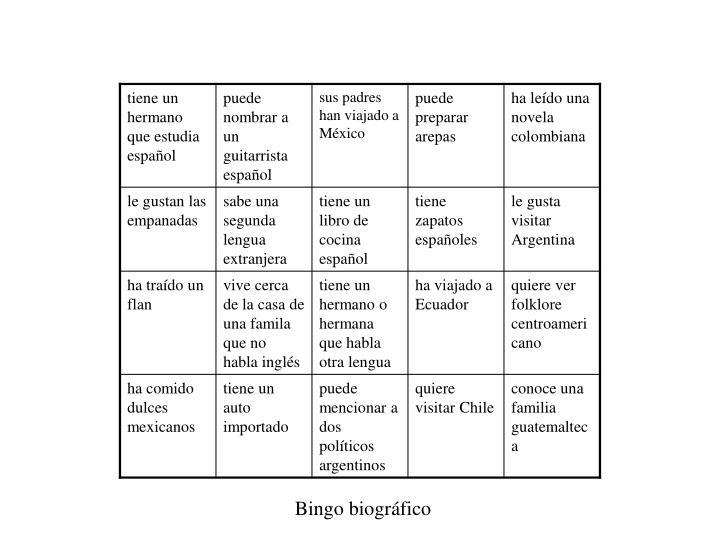 Bingo biográfico