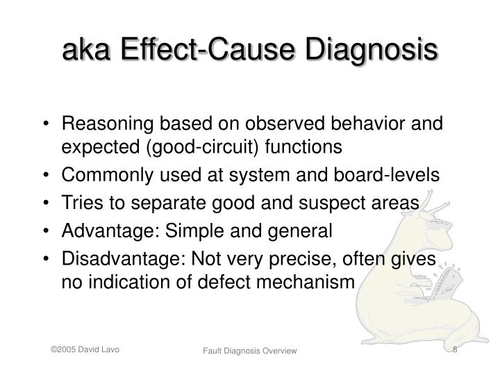 aka Effect-Cause Diagnosis