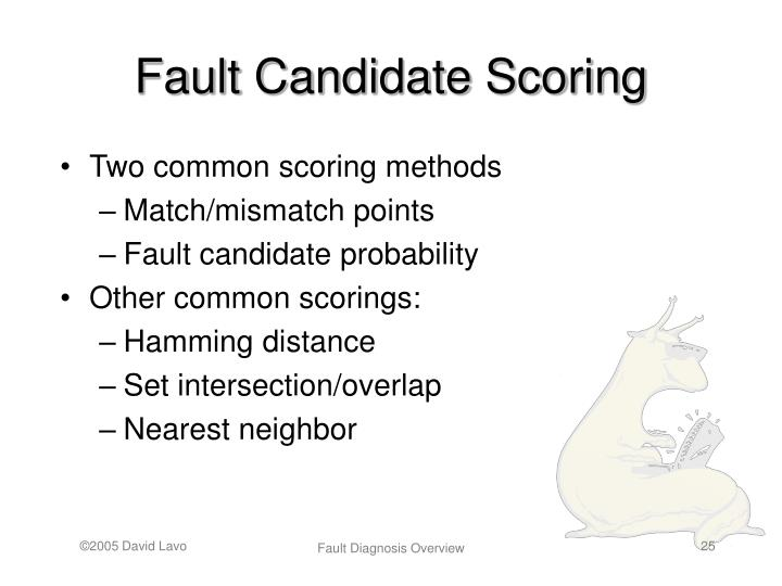 Fault Candidate Scoring