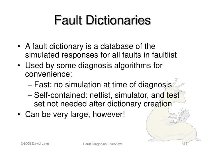 Fault Dictionaries
