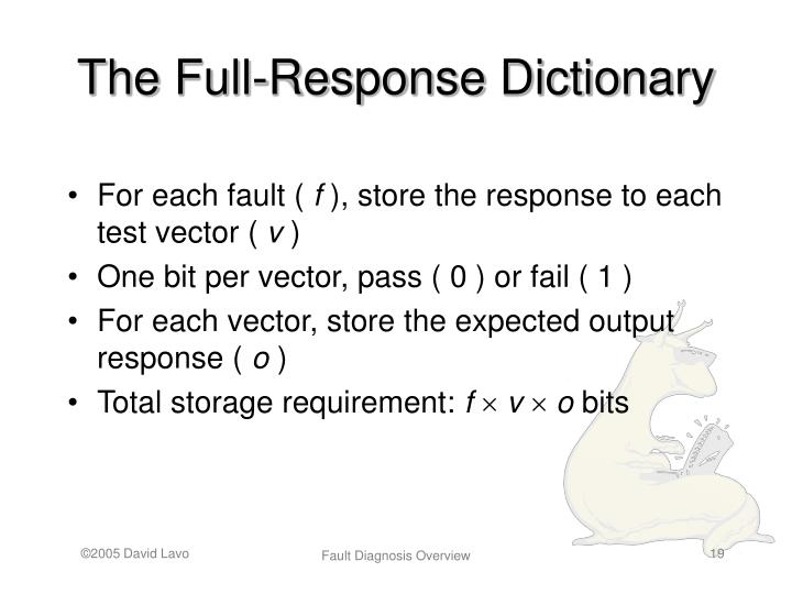 The Full-Response Dictionary