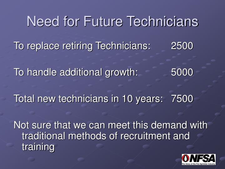 Need for Future Technicians