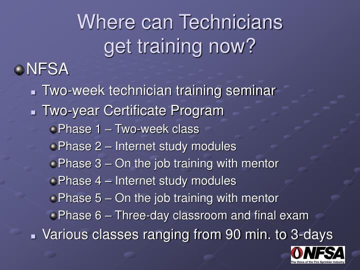 Where can Technicians