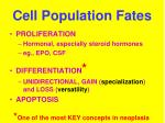 cell population fates