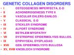 genetic collagen disorders