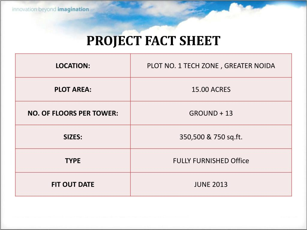 PROJECT FACT SHEET