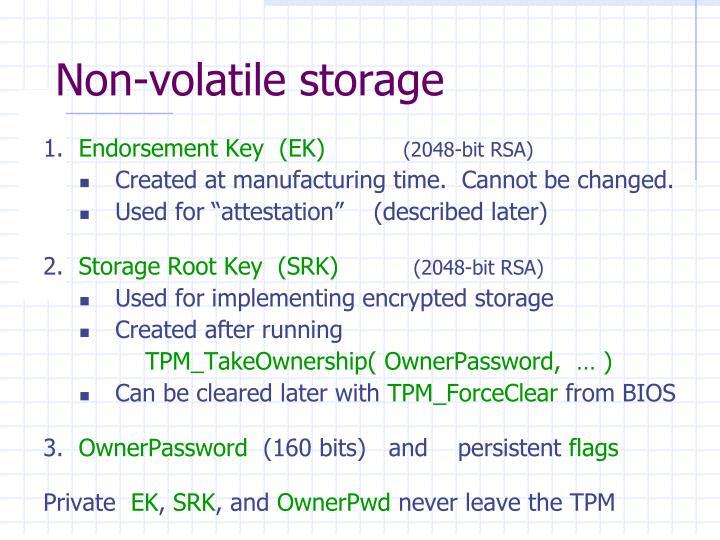 Non-volatile storage