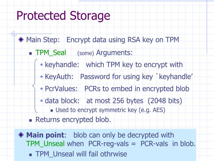 Protected Storage