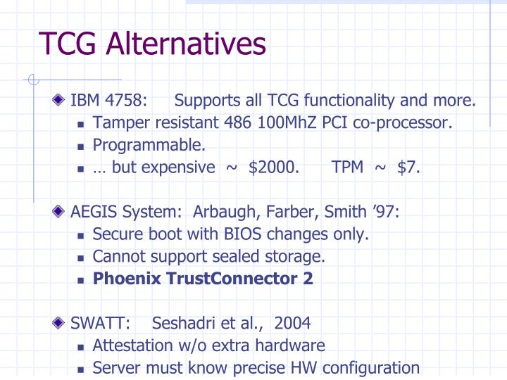 TCG Alternatives