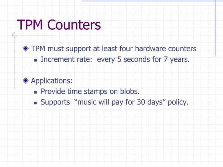 TPM Counters