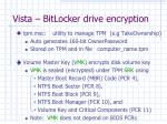 vista bitlocker drive encryption