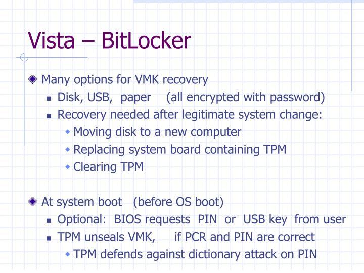 Vista – BitLocker