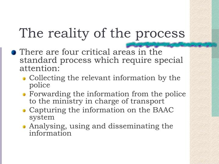 The reality of the process