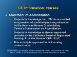 ce information nurses