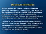 disclosure information1