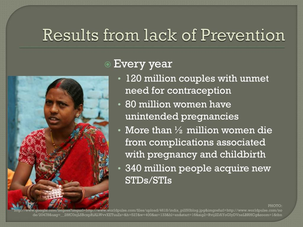 Results from lack of Prevention