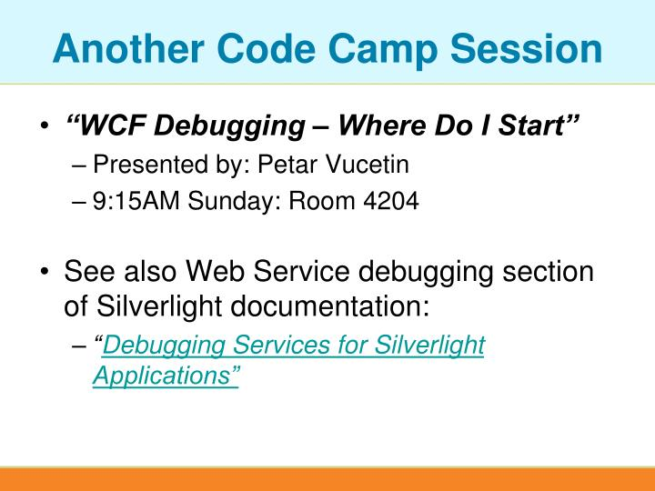 Another code camp session