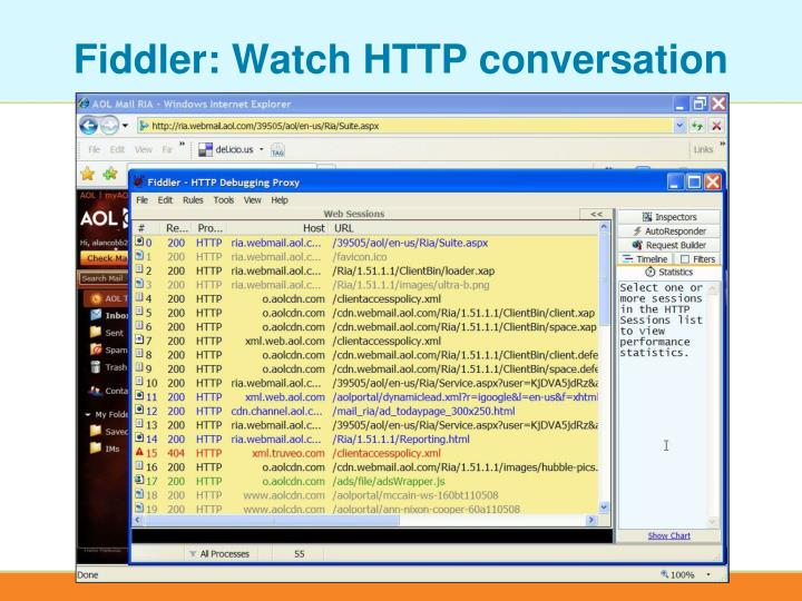 Fiddler: Watch HTTP conversation